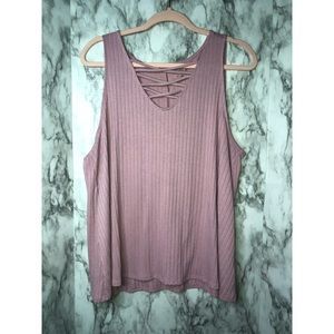 NWOT Plus Size Ribbed Tank Top